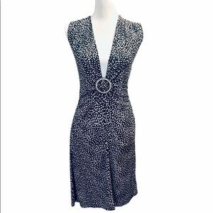 XOXO Deep V-neck ruched dress